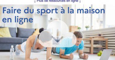 Coronavirus COVID-19 : Avec le ministère des Sports, faire du sport chez soi, c'est facile !